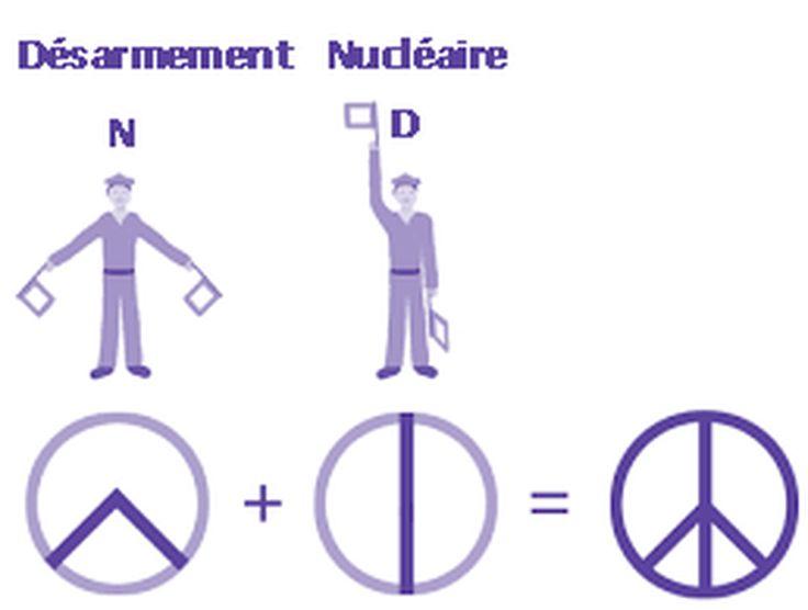 Peace and love. L'un des symboles les plus utilisés au monde par les pacifistes…