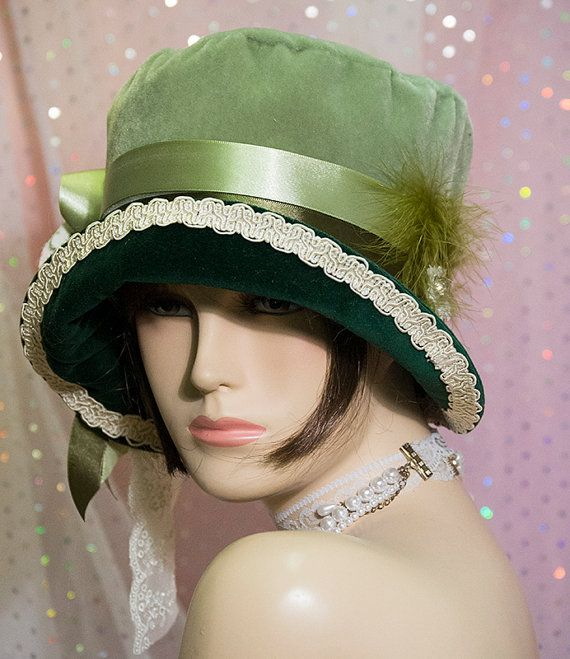 4e45d567ec4 1920s Vintage Inspired cloche Hat Great Gatsby by aileens4hats ...