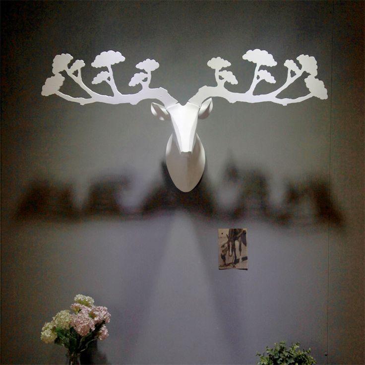 Criativo Parede veados decoração da sua casa, cabeça de veado resina, moose elk…