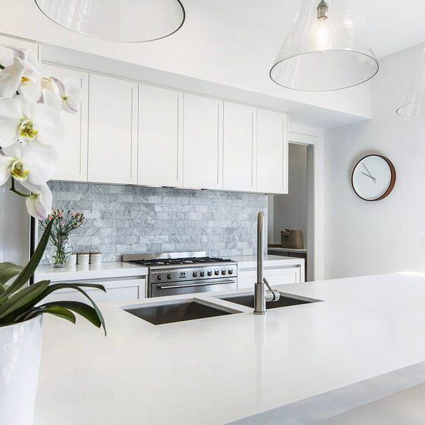 Beautiful Modern White Hamptons Inspired Kitchen With KWD