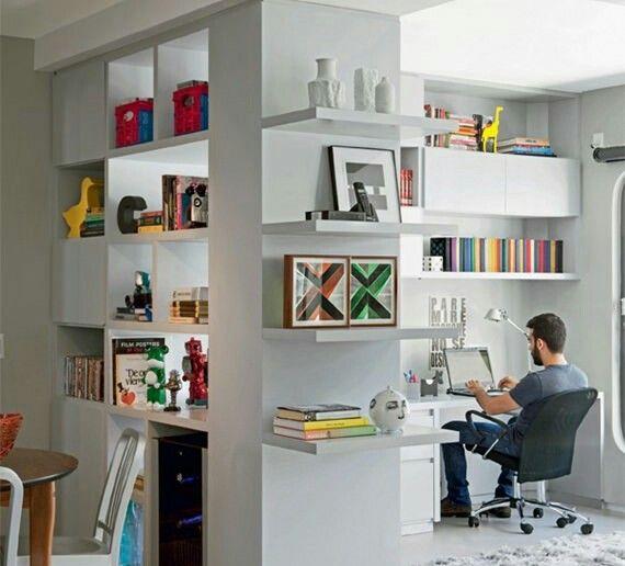Estante divisora home office