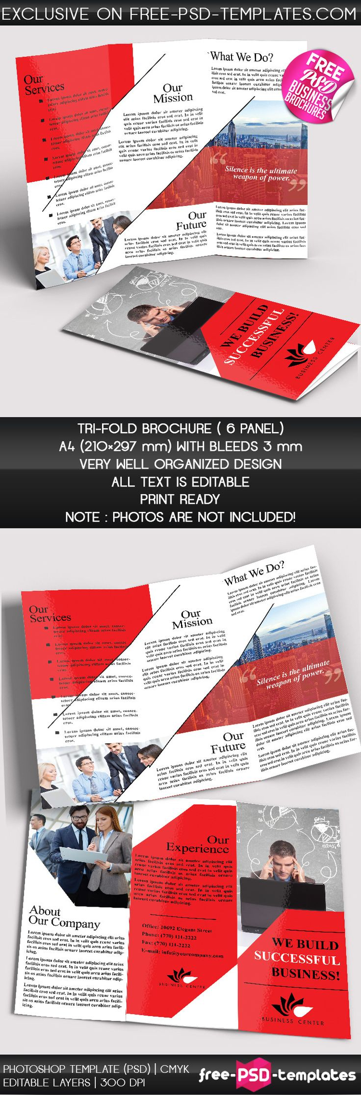 free psd business brochure template on behance more at designresourcesio