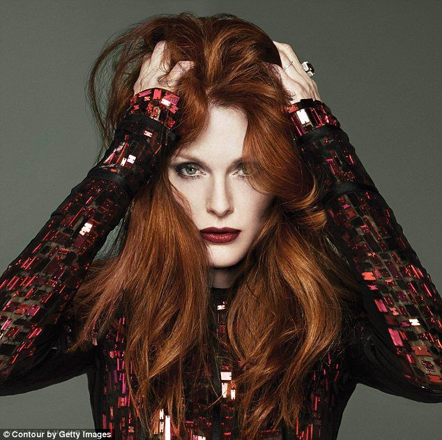 Lady in red! 53-year-old actress Julianne Moore looks better than ever in the spread in Beach Magazine
