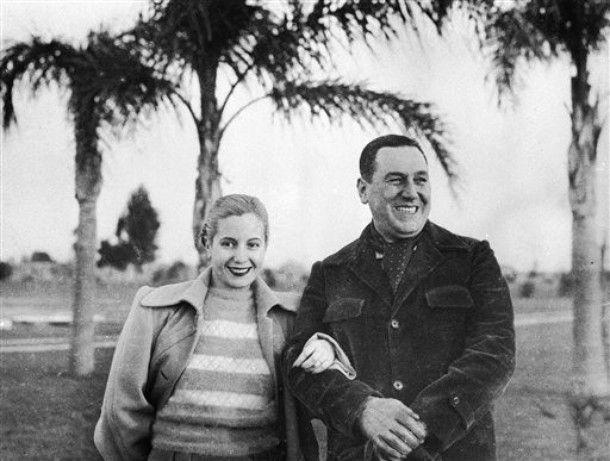 Juan Peron, President of Argentina, and his wife Eva Peron
