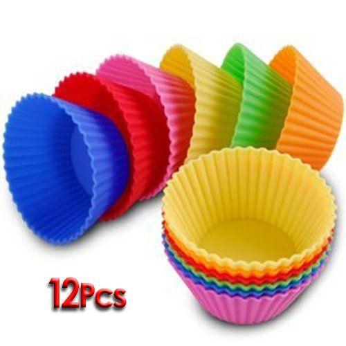 12er Set Silikon Muffinform Muffinförmchen Muffin Kuchen Cup 6 Farben Backform Rot, Gelb, Grün, Pink, Orange, Blau stabil und flexibel farbig Surepromise http://www.amazon.de/dp/B0060HOP9E/ref=cm_sw_r_pi_dp_Bihqwb0QPHEW1