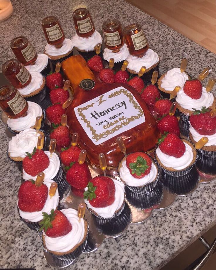 Hennessy Cake Injected With Hennessy.