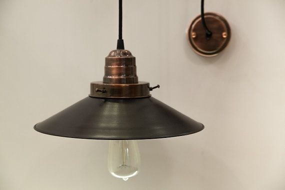 HARDWARE Pendant lamp light in industrial by LightCookie on Etsy, $65.00