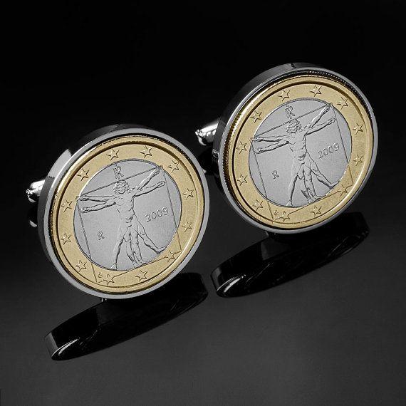 Handmade Cufflinks Leonardo Da Vinci by worldcoincufflinks on Etsy, $69.00