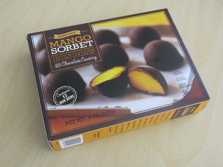 Mango Sorbet Bon Bons with Chocolate Coating traderjoes
