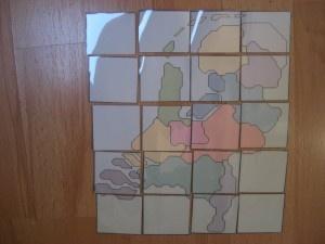 Een puzzel van de provincies van Nederland