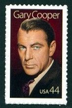 Gary Cooper - Single Stamp 15th in Legends of Hollywood Series United States, 2009