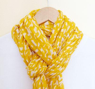 Façon originale de nouer un foulard