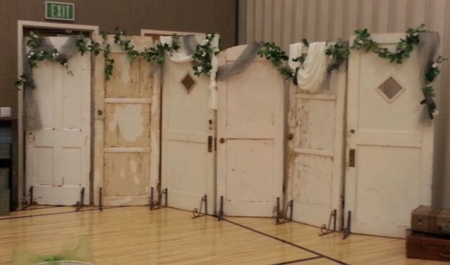 Outdoor Decor Using Old Doors | Old Doors for Vintage Chic