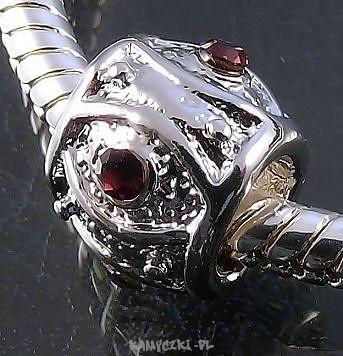 Biżuteria Modułowa Beczułka 7/11mm z ametystowymi cyrkoniami - Półfabrykaty jubilerskie, narzędzia jubilerskie, elementy srebrne i perły