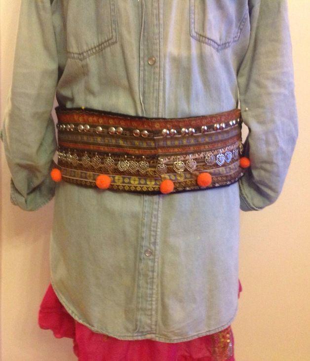 Cinturones de tela cinturon etnico colgantes corrazones - Donde comprar pintura para tela ...