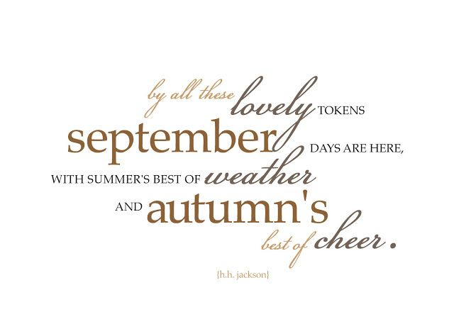 Superbe September Quote