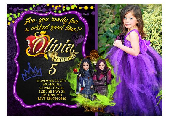 134 Best Images About Descendants Birthday Party On Pinterest