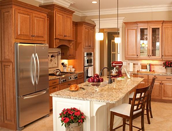 Best Kitchen Images On Pinterest Maple Cabinets Kitchen
