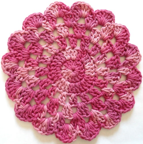 Rose In Bloom Crochet Dishcloth - Maggie Weldon Maggies Crochet