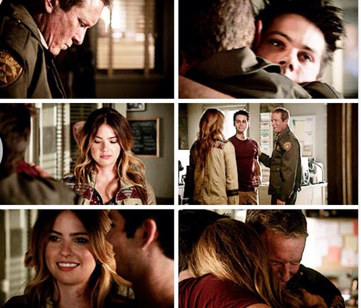 "Teen Wolf Season 04 Episode 12 ""Smoke and Mirrors"" Season Finale. Malia Hale, Sheriff Stilinski, and Stiles Stilinski"