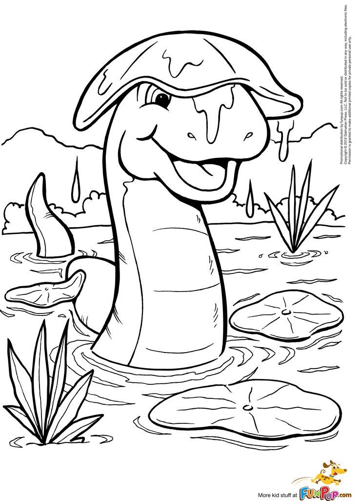 Lily Pad Dinosaur 000 Coloring SheetsAdult