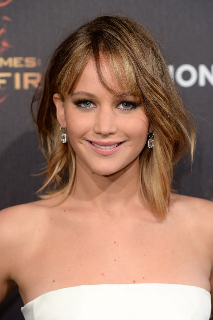 30 Bangs Jennifer Lawrence Lob Hairstyles Hairstyles Ideas Walk