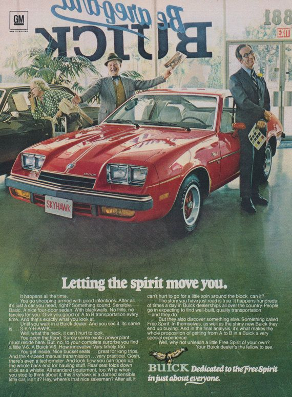 1976 Buick Skyhawk Car Dealership Photo Ad Vintage Advertising Print