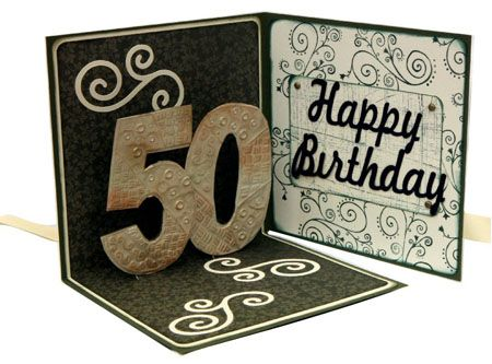 50th Birthday Card Cinnamon Aitch Cards Pop Up Template Celebration
