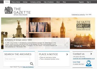 The London Gazette has 351 years of its newspaper digitized online and searchable ... read more ...