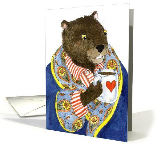 18 best groundhog day feb 2 images on pinterest holiday cards groundhog awakes groundhogs day card m4hsunfo