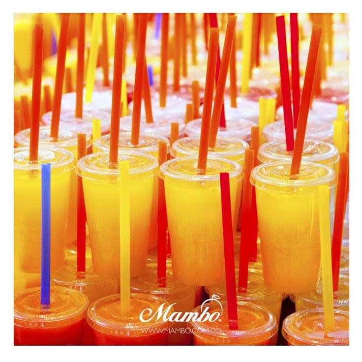 Jugos, deliciosos y de todos los colores Frutas y verduras Mambo Cartagena de Indias www.mambo.com.co