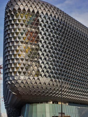 The SAHMRI building. North Terrace, Adelaide CBD