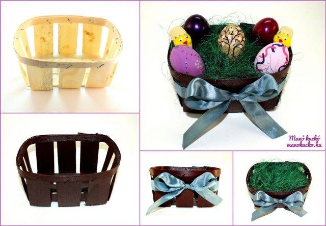 Húsvéti kosár készítése - Manó kuckó