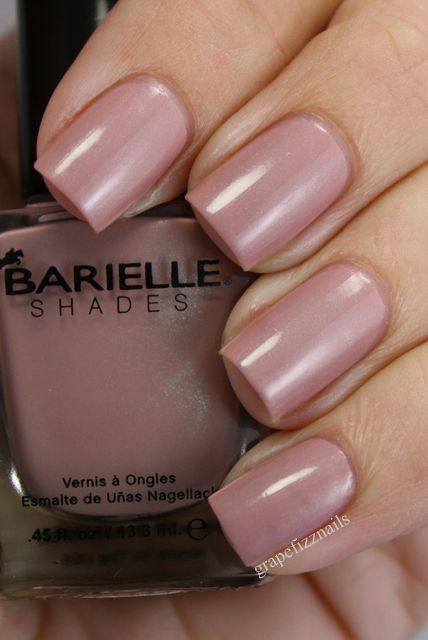 Greenwich Village At Dawn is a lovely dusty rose pink with green shimmer