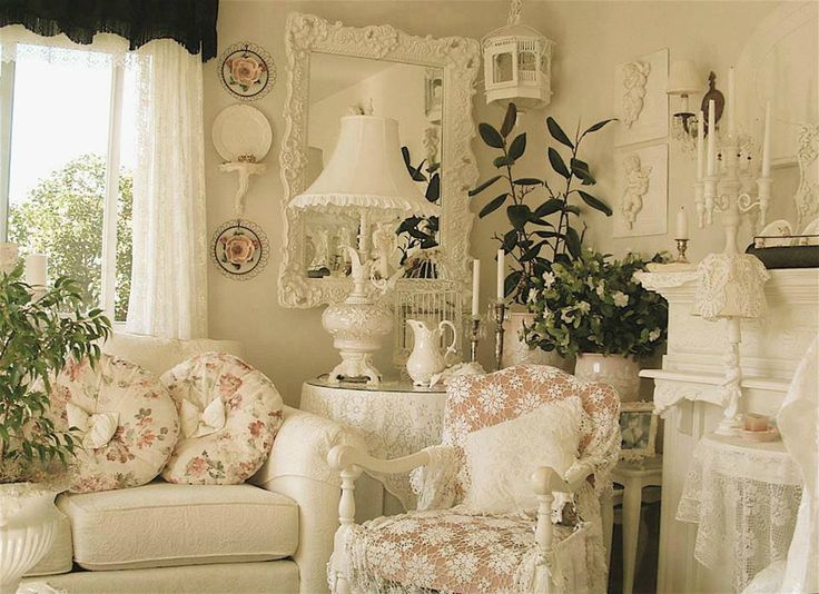 709 best victorian romantic shabby cottage living rooms for Style shabby romantique