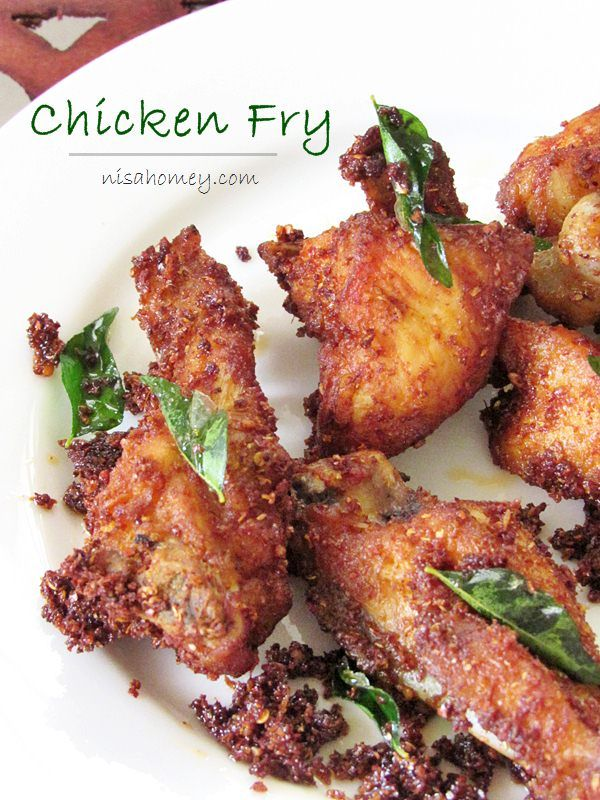 Chicken fry, made with freshly grounded Indian spices, step by step picture tutorial #chickenfry #friedchicken #kerala