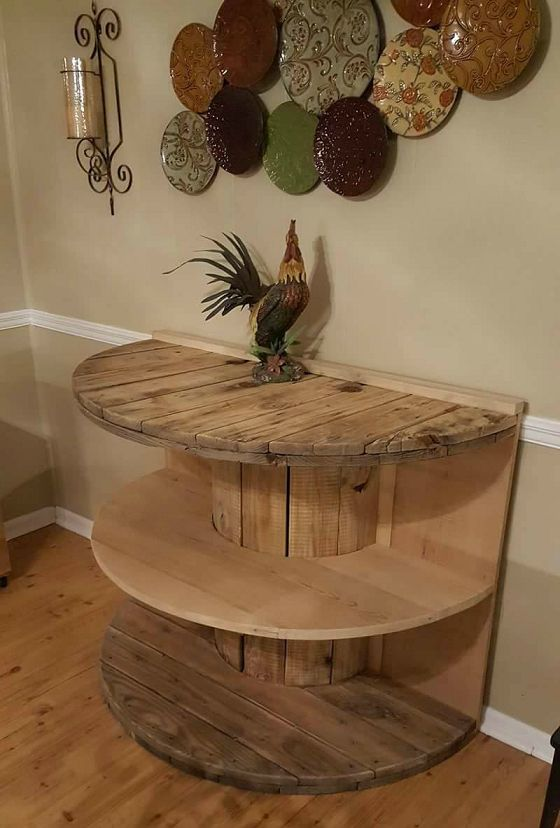 Repurposed Spool Table...so cute for the house!