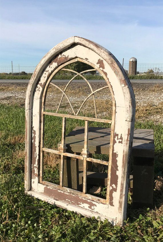 Wood Metal Farmhouse Window Frame Architectural Window Wall Etsy Window Wall Decor Faux Window Window Wall