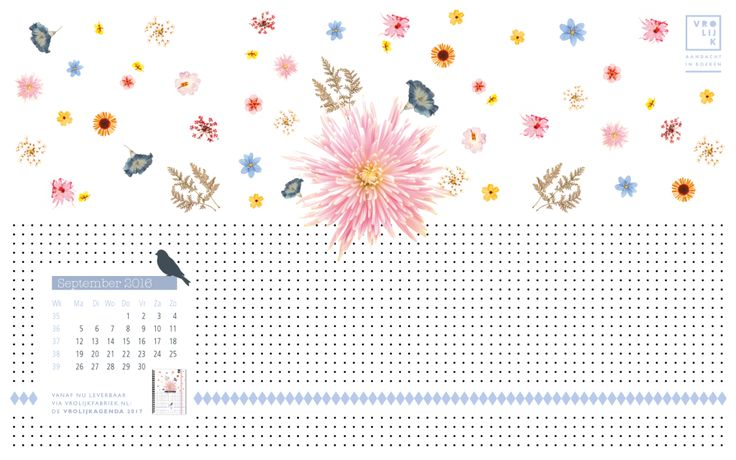 Happy September! #wallpaper #freedownlaod @ www.vrolijkfabriek.nl