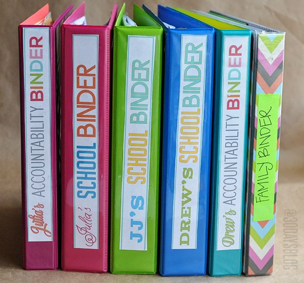A whole collection of binders to help organize your home- with TONS of cute printables!  www.thirtyhandmadedays.com
