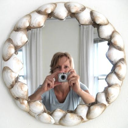 shell mirrors images | ... Nautical Decor | Seashell Decor: Round Shell Mirror -A Simple Tutorial