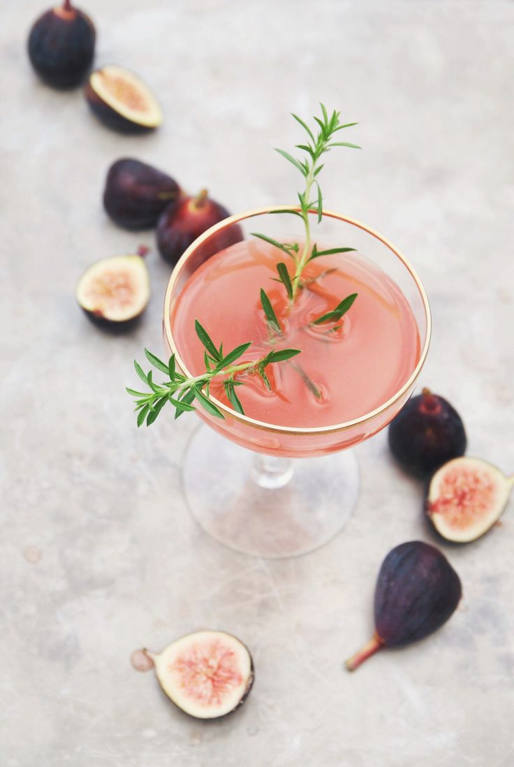 rum cocktail recipe with fig + thyme