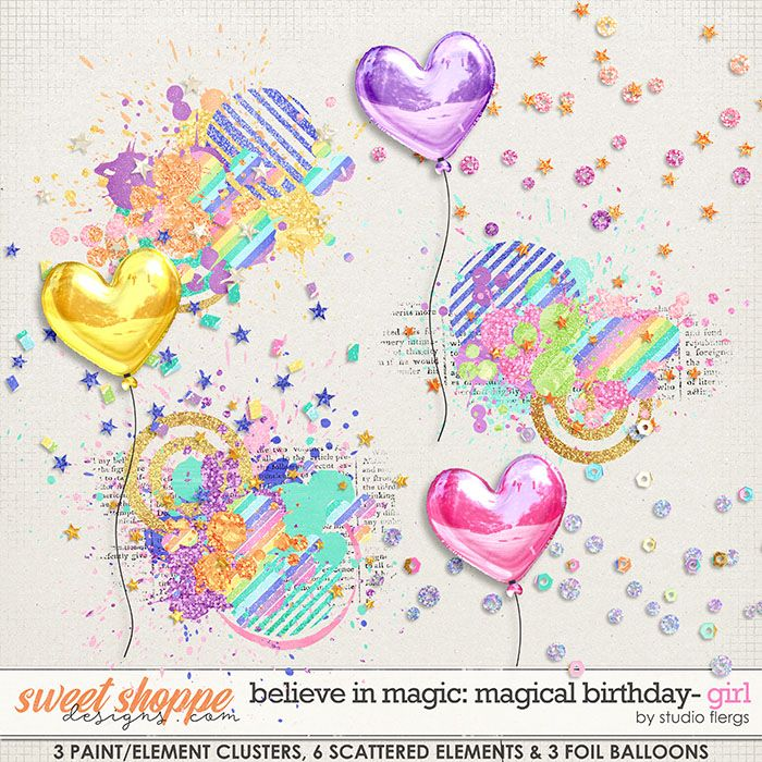 Believe in Magic: Magical Birthday GIRL- SCATTERZ by Studio Flergs