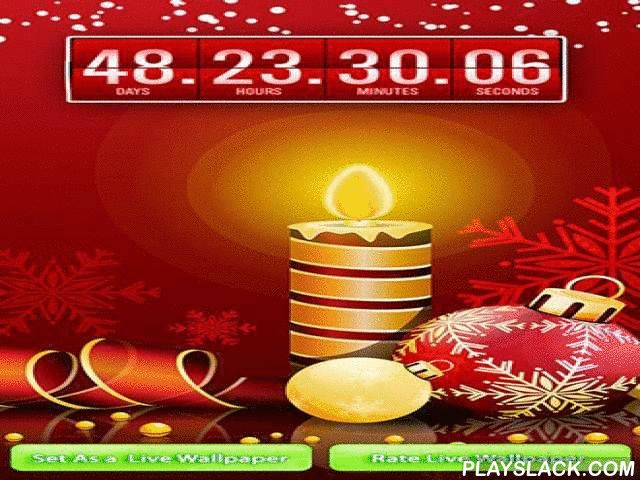 Christmas: Countdown  Android App - playslack.com , Christmas: Countdown - joyous live wallpapers which show the time left before Christmas comes. This is an amazing app with pretty graphics, creaseless motion graphics and sound effects.