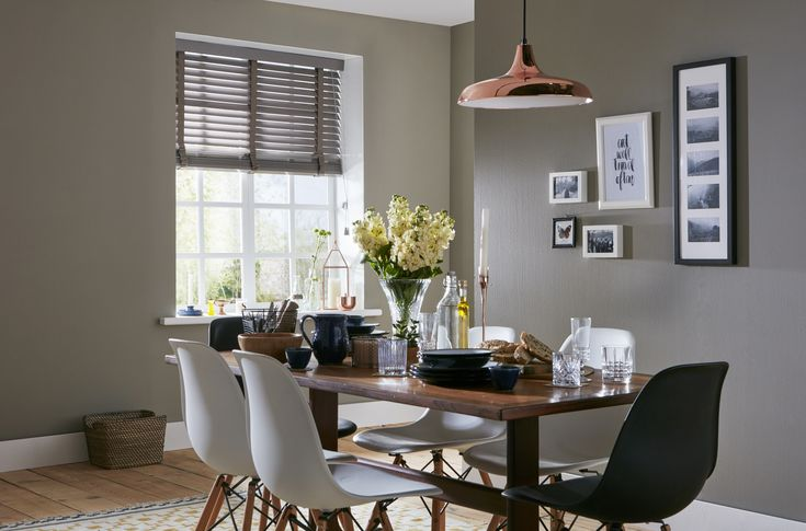 Truffle 65mm wood Venetian blind with string tape - 1250mm x 1500mm by Apollo Blinds