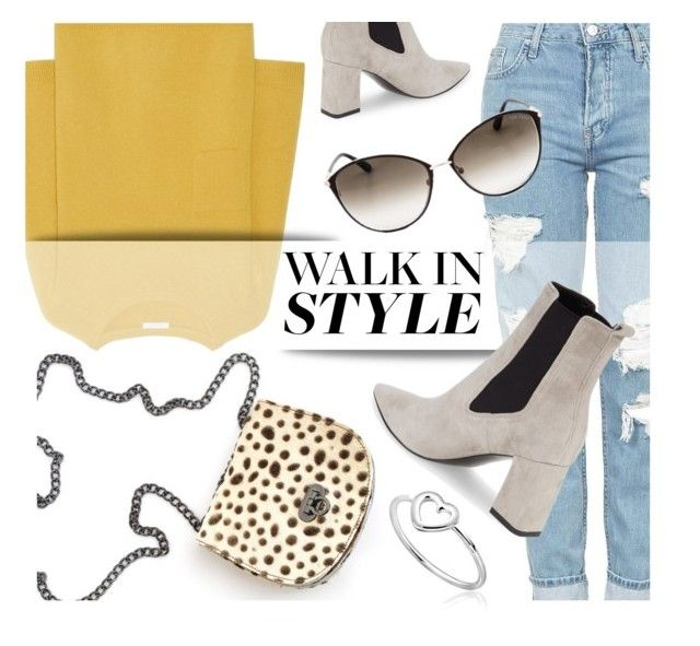 """""""Saturday's Look"""" by mimicdesign ❤ liked on Polyvore featuring Topshop, Chloé, Marc Fisher LTD, Tom Ford, LeopardPrint, chelseaboots and leopardbag"""