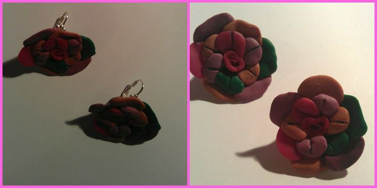Flower earrings.. :)