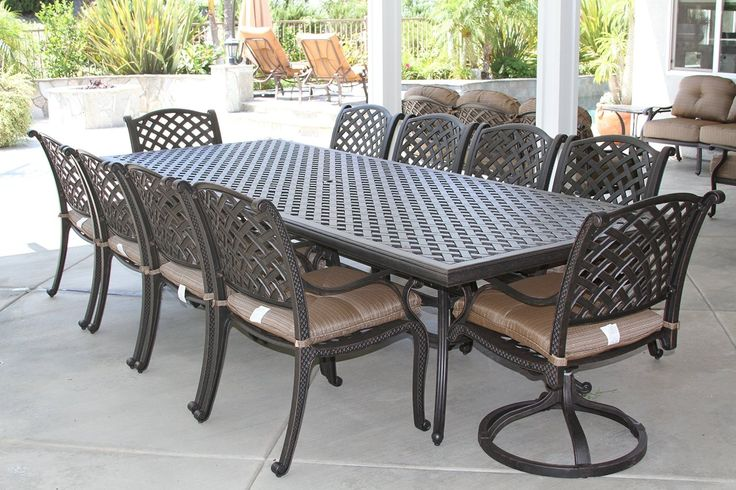 10 Best Large Patio Dining Set 12 Person 13 Piece Images