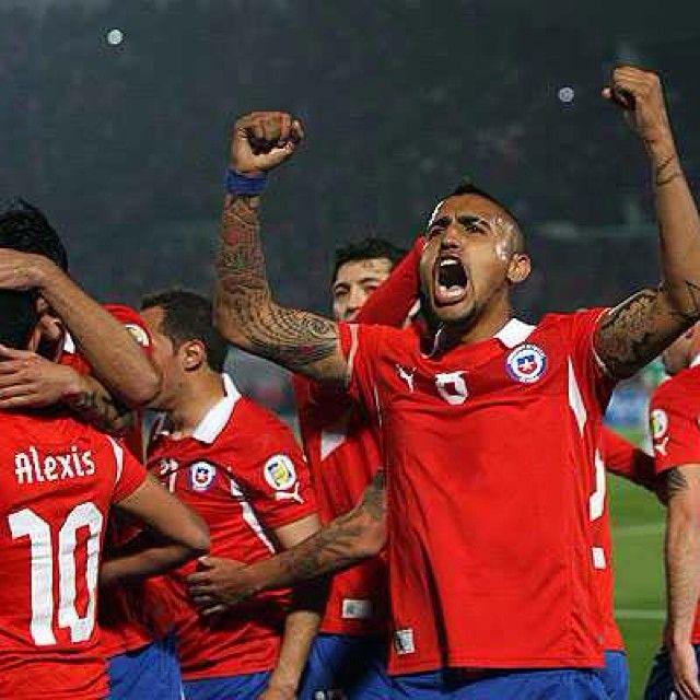 Que estos cracks se maten hoy, vamos #Chile #Brasil2014 @vidalofficial