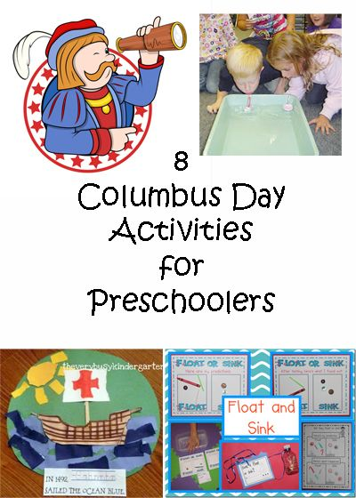 Looking for activities to do with your preschooler on Columbus Day?  Look no further!  | candleinthenight.com